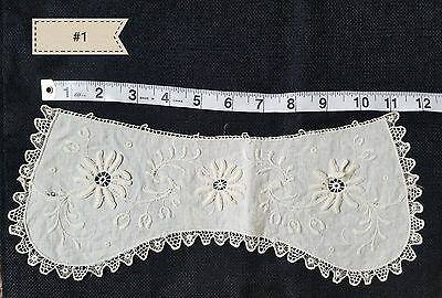 A4 Antique Edwardian Pattern Victorian Salvage Collar Dolls projects or study