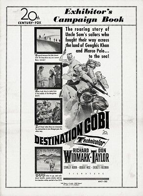 DESTINATION GOBI pressbook, Richard Widmark, Don Taylor, (a Robert Wise film)