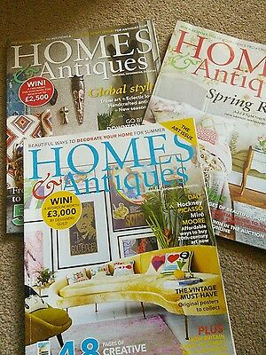 3 HOMES AND ANTIQUES MAGAZINES May, June,July 2017
