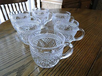 Cristal d'Arques ANTIQUE Pattern 6 Coffee / Tea/ Snack Cups    France