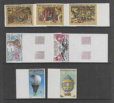 MALI IMPERFORATE AIRMAILS in Complete Sets MNH C290-C292 C393-C394 C470-C471