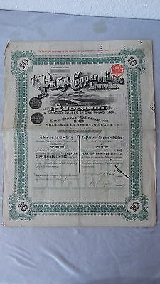The Pena-Copper Mines Limited-Shares von 1913