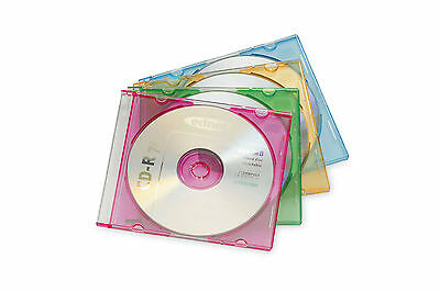 ednet CD Slim Case 5mm rainbow