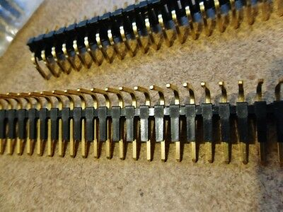 """10PK RIGHT ANGLE FRICTION LOCK HEADER 3.96mm (.156"""") 1 x 24 PIN GOLD CONTACTS"""