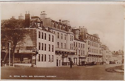 Guernsey - Real Photo Postcard - Royal Hotel - Now Demolished