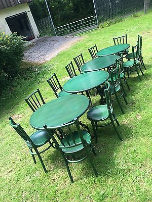 Cafe tables and chairs Cast Iron Legs