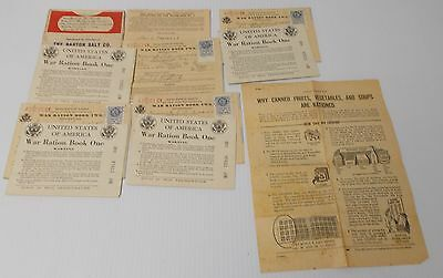 WWII 8 Ration Books w/ Stamps Barton Salt Holder How to Use Pamphlet Mankato MN
