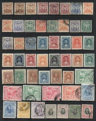 ECUADOR Group of 86 on 2 Pages Mint/V.F.Used No Hidden Faults All Sound & Nice