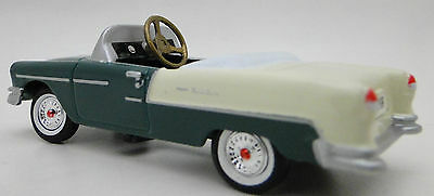 A 1955 Chevy Pedal Car Vintage Green & White Two Tone Sport Hot Rod Midget Model