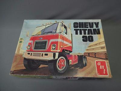 AMT Chevy Titan 90 Model Semi Truck Tractor 1/25 Scale T509 Vintage 1971