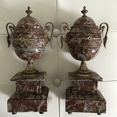 Two Antique French Marble Decorative Urns