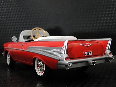A Pedal Car 1957 Chevy Vintage BelAir Hot Rod Sport Classic Red Midget Model