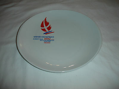 Winter Olympics 1992  China Plate   Albertville Savoie France   Large Size
