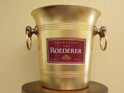 Vintage Louis Roederer Champagne Ice Bucket Gold Tone