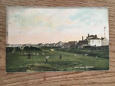 Postcard  Golf Links  Redcar by Wrench
