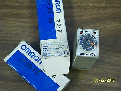 (1) *new* Omron 0-10 Minute Time Timer Relay 120V , H3Y-4