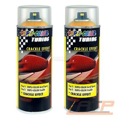 2x 400ml DUPLI COLOR TUNING CRACKLE EFFEKT ORANGE RISSE STRUKTUR 466465 32155082