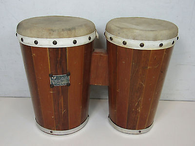 Vintage Zim Car Bongo Drums Musical Instrument Made In Mexico