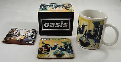 Officially Licensed Boxed Oasis Ceramic Mug & Coasters Set. Definitely Maybe NEW
