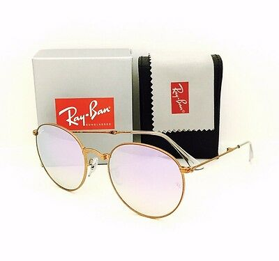 7dbcdc5996c New Ray Ban Sunglasses 3532 198 7X Folding Bronze Lilac Mirror 53•20