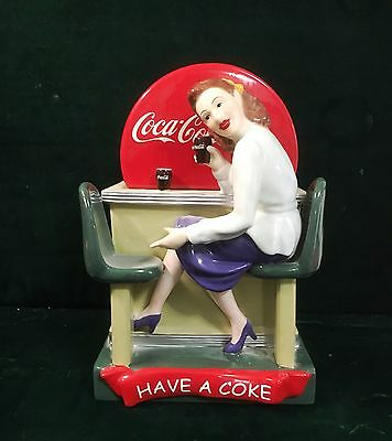 Gibson Coca-Cola woman at 1950s diner counter cookie jar