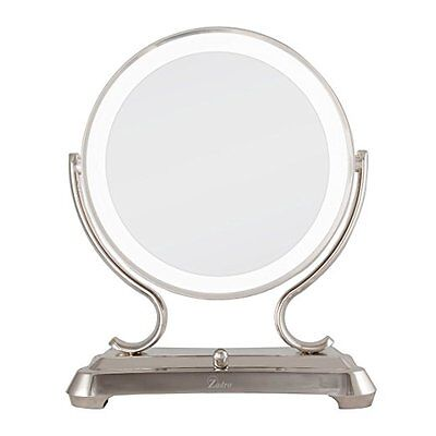 Zadro Dual Sided Glamour Vanity Mirror, 5X / 1X Polished Nickel GLA75