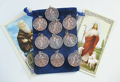 Wholesale Lot 25 New Round St. Benedict Saint Medals, Very Detailed
