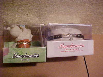Dept 56 Snowbunnies Eye to Eye & Two of a Kind Easter Hinged Boxes New in  Box
