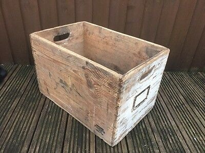 Vintage Wooden Box Crate Fiddes Aberdeen Project Upcycle Retro