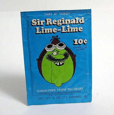 Vintage Tart N' Tangy Sir Reginald Lime-Lime Drink Mix - Never Opened FREE SHIP