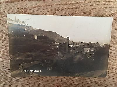 Postcard  Skinningrove railway tracks and factories by Booth of Loftus