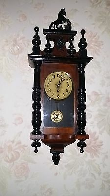 Antique German Two Tone Small Vienna Wall Clock