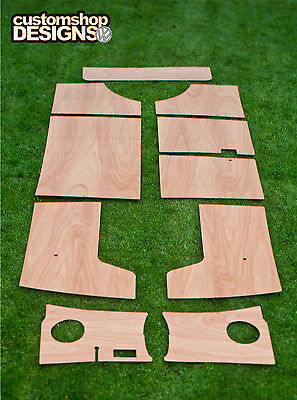VW Splitscreen Camper Van Door Cards / Interior 3.6mm Ply Panels Trim Kit