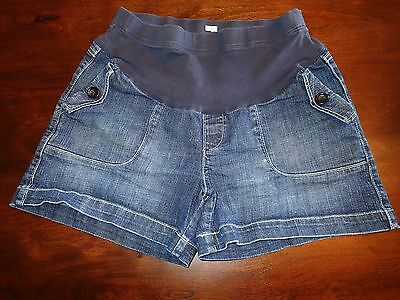 OLD NAVY Maternity Full Panel Stretch Denim Jean Shorts Size M
