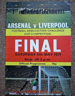 ARSENAL v LIVERPOOL 1971 FA CUP FINAL FOOTBALL PROGRAMME Wembley Stadium Soccer
