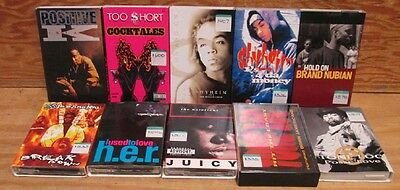 Hip Hop Rap 10 Cassette Single Lot Common Tone Loc Shyeim Notorious B.i.g. Fu-Sc