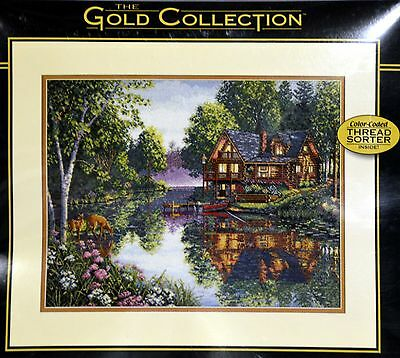 Dimensions Needlecrafts Counted Cross Stitch, Cabin Fever The Gold Collection 35