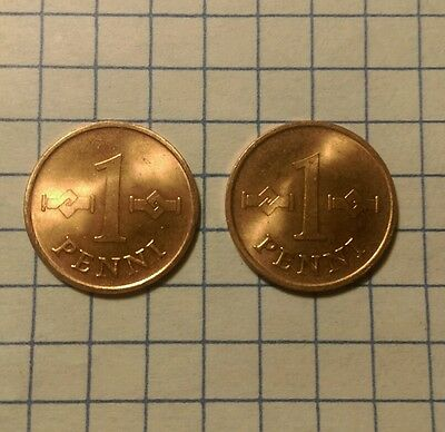 Lot of 2 Finland Penni, 1966, World Coins