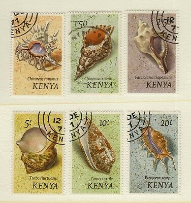 KENYA #45-50 USED 1971 SEA SHELLS 6 Top Values