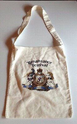 "Vintage Minnesota Renaissance Festival Tote Bag ""The Adventure is Yours"" Unicorn"