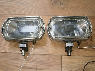 Vintage Pair Of Lucas Chrome  Ft Lr8 Front Spot Lights With Location Brackets.