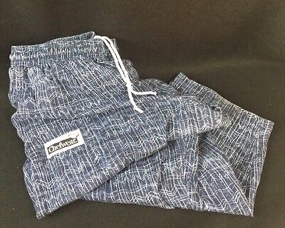CHEFWEAR CHEF PANTS 2X BAGGY BLUE With White Print EUC Free Shipping