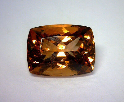 21.21 Ct Natural Cushion Cut Sherry Colored Topaz, Heated, Pakistan