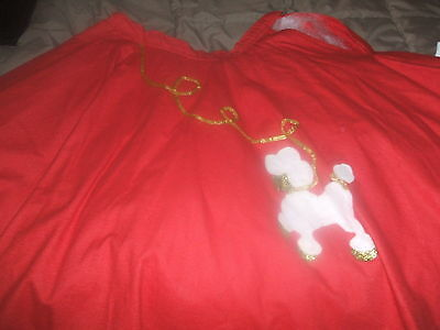 Halloween Poodle Skirt Red  Felt Under skirt Hand Made  Excellent condition