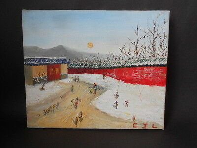 modern chinese?oil painting on canvas signed c.j.l