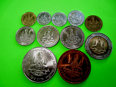 Thailand Coins, King Rama 9, Golden Jubilee Coin Set of 11 Coins
