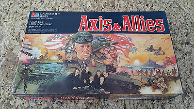 1984 MB Axis & Allies WWII Gamemaster Series Board Game Spring of 1942 Must See!