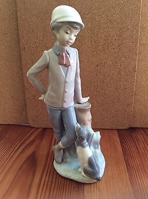 Nao By Lladro.  Boy with a sitting dog