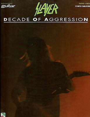 Slayer Decade Of Aggression Guitar Tab Tablature Song Book