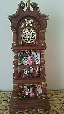 Mousefield Manor Musical Grandfather Clock,  collectable,  music box,  RARE